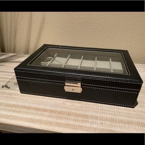 Watch Display Box Organizer Holds 12 Watches